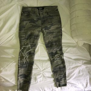 Camouflage skinny ankle rise jeans from Express